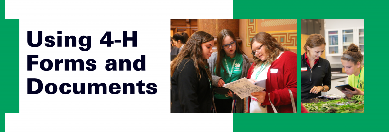 Using 4-H Forms and Documents