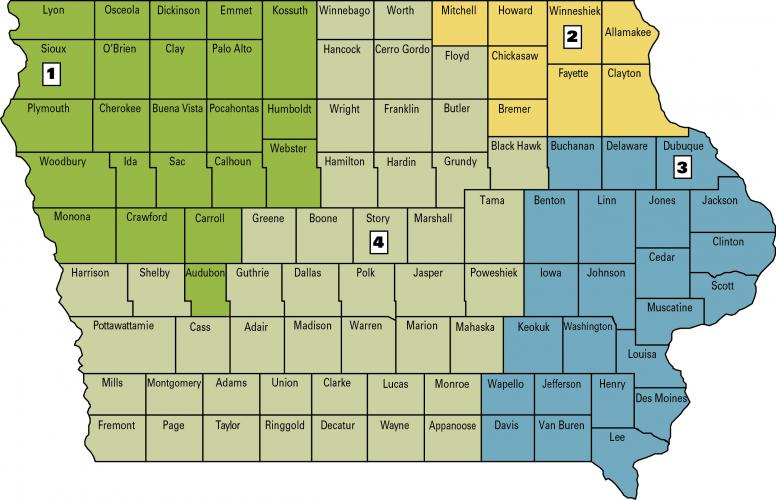 dairy specialist map of iowa