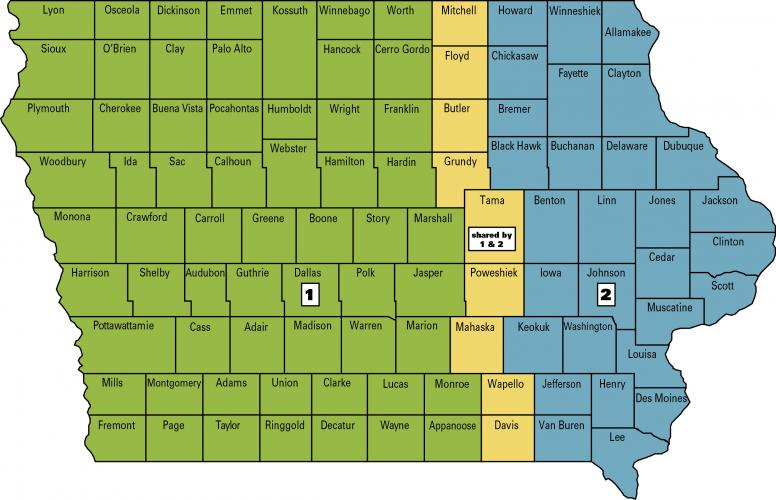 horticulture specialist map of iowa