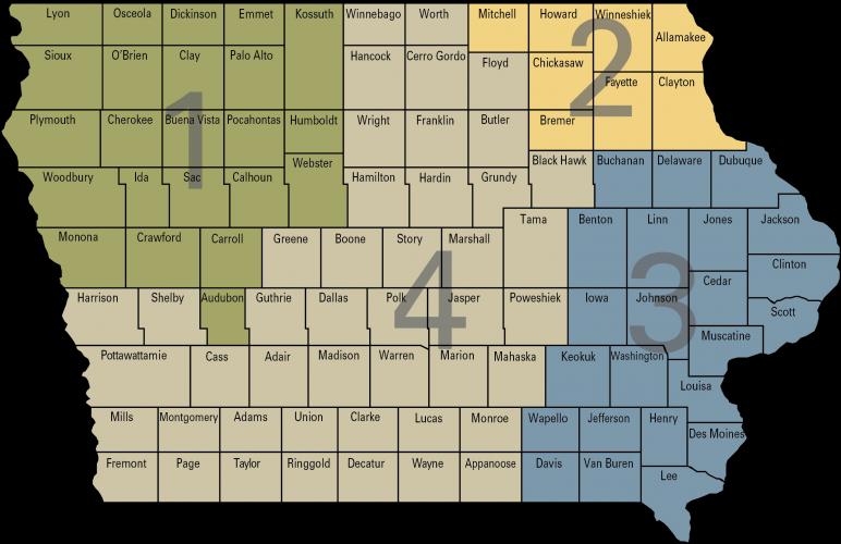 dairy territory map