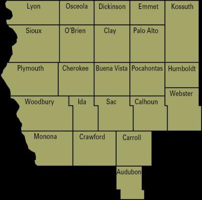 dairy region 1 map
