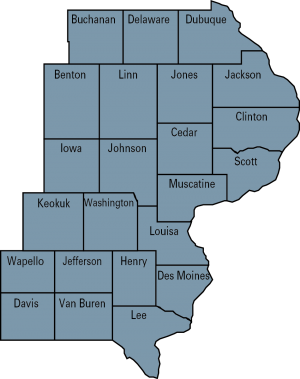 dairy region 3 map