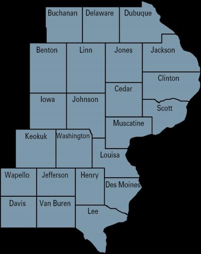 dairy region 3 map