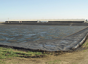 permeable cover on manure lagoon
