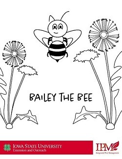 Bee coloring page