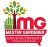 Master gardener logo with green hand and tree