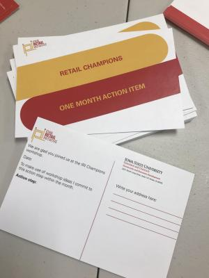IRI Retail Champions one-month action item card