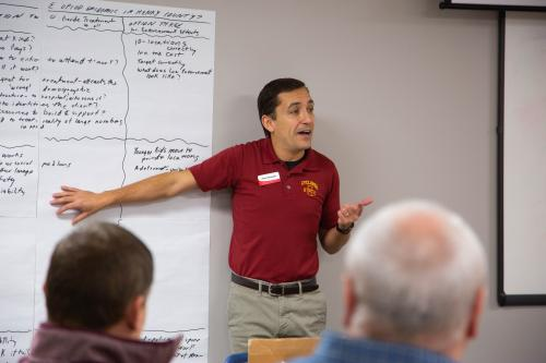CED specialist Himar Hernández facilitates Leading Communities for participants in Henry County.
