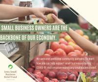 Iowa Small Business Relief Fund infographic