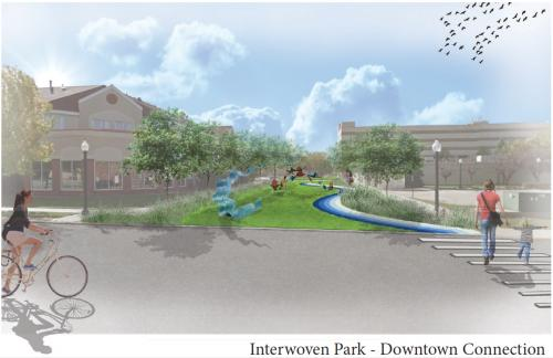 Interwoven Park connection concept drawing