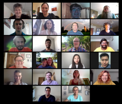Screenshot of virtual meeting of the DSPG team