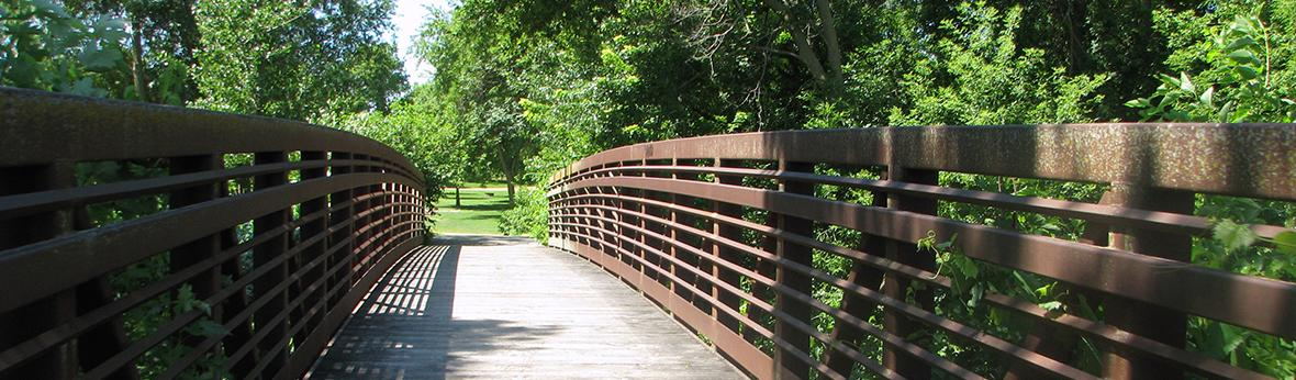 Pedestrian Bridge and Prairie Bridge