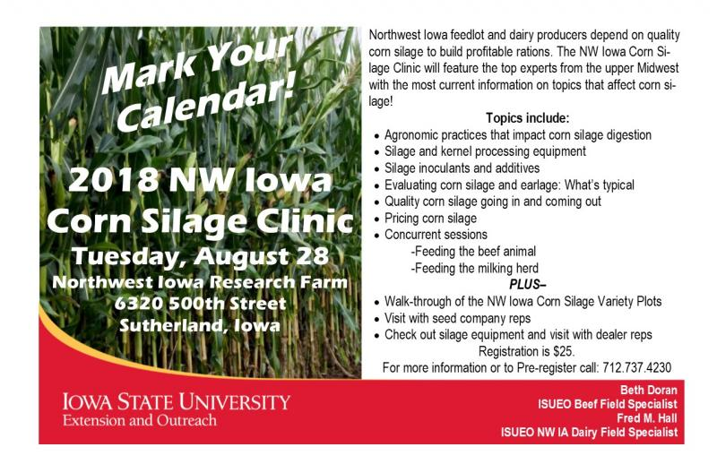 NW IA Corn Silage Clinic-August 28