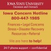 Iowa Concern Hotline 1-800-447-1985