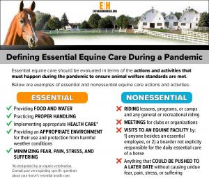 Defining Essential Equine Care During a Pandemic