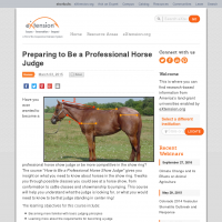 Preparing to Be a Professional Horse Judge - eXtension