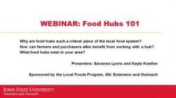 food hubs webinar cover