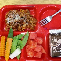 school lunch tray.