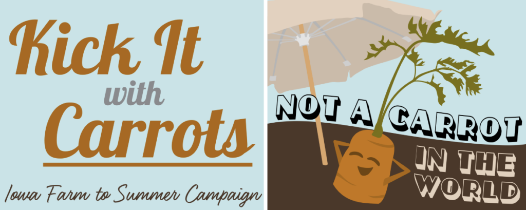 Kick it with carrots banner.
