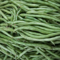 Fresh green beans.