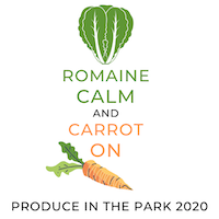 Romaine calm and carrot on. Produce in the Park 2020.