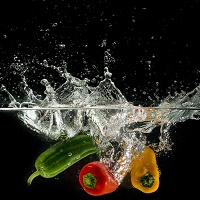 food safety peppers in water.