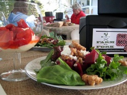 Marinated Beet Salad with Walnuts and Goat Cheese