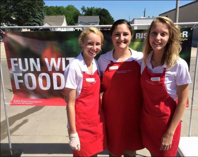 Rising Star Interns at Fun with Food Tasting