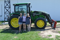 Carissa, Emily and Christel at the Research Farm. Photo by Kiley Kaufman.