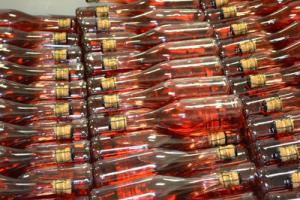 Wine bottles at Calico Skies Winery