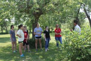 Learning about aronia berries at Eden Valley Apple Orchard