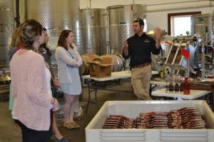 Rising Star Interns tour Calico Skies Winery