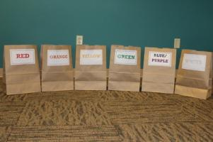 Color Sorting Bags. Photo by Carissa.