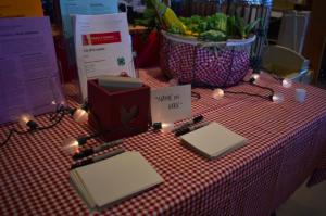 Menu and table display