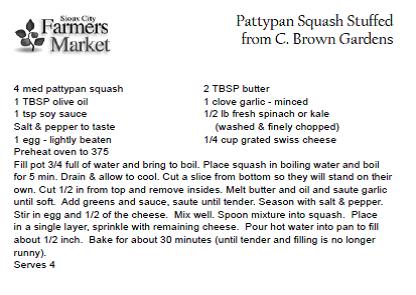 Pattypan Squash Stuffed