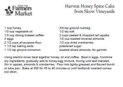 Harvest Honey Spice Cake