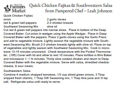 Quick Chicken Fajitas & Southwestern Salsa