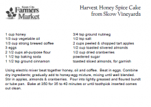 Harvest Honey Spice Cake