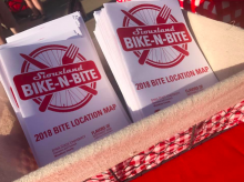 Bike-N-Bite maps ready for pick up.