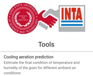 grain aeration app logo - ISU and INTA handshake logo