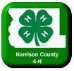 4-H Clover in outline of Harrison County Iowa