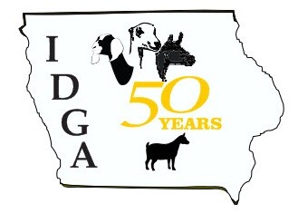 state of iowa outline with goats inside of state