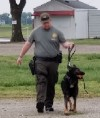 Sheriff working with K9 Dog Gunner