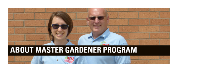 Denny Schrock and Susan DeBlieck coordinate the state-wide Master Gardener program