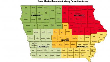 Advisory Commitee Areas in Iowa