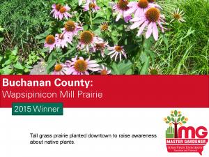 Buchanan County Master Gardeners won the SFE award in 2015
