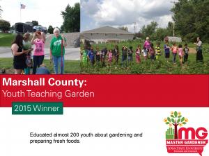 Marshall County Master Gardeners won the SFE award in 2015