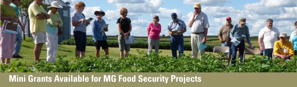Mini grants available for Master Gardener food security projects