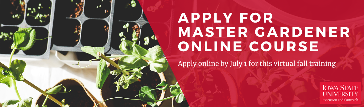 Apply for Master Gardener Online Course: Apply online by July 1 for this virtual fall training