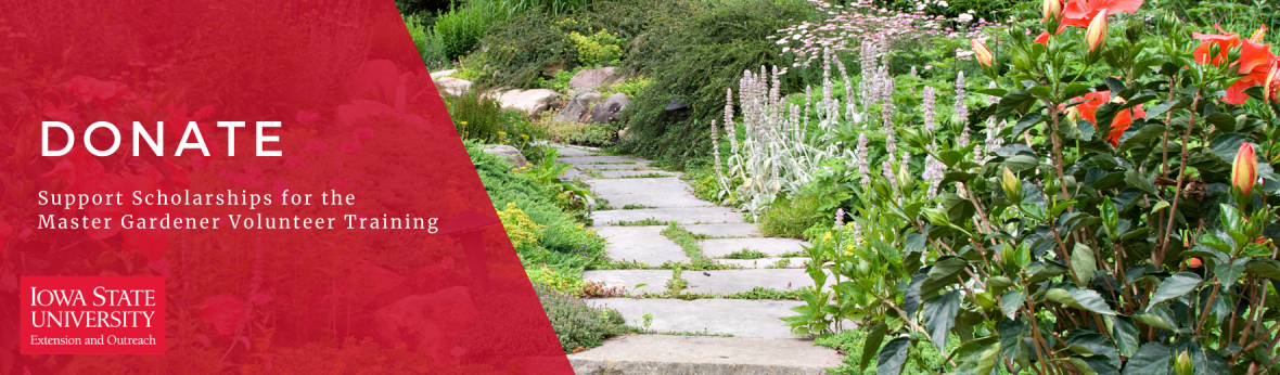 Donate to the Master Gardener program: Support MG training scholarships by selecting the MG program when you donate to the Iowa State University Foundation